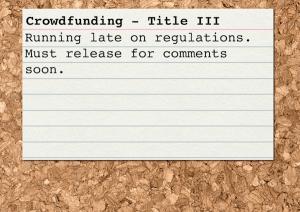 Crowdfunding Card Title III Regulations
