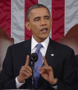 President Barack Obama Giving A Speech