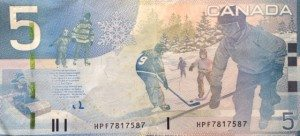 Canada 5 Dollars Hockey