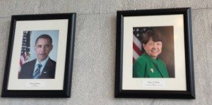 Mary Jo White and Barack Obama SEC