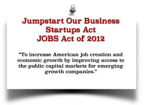 Jumpstart Our Business 2012 JOBS Act