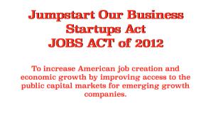 JOBS Act 2012 jumpstart our business