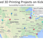 Kickstarter's 3D Printing CrowdFunded Projects Shows A Diversity of Locations (Infographic)