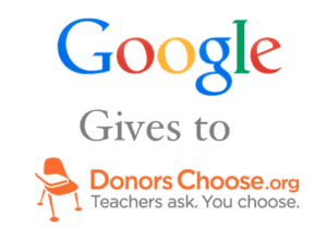 Google Gives to DonorsChoose