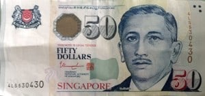 50 singapore dollars money asia cash