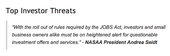 NASAA Top Investor Threats