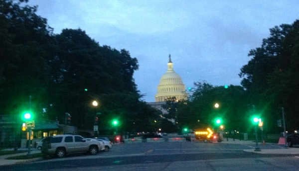 US Capitol Green Light Go