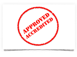 Approved Accredited Investor Stamp