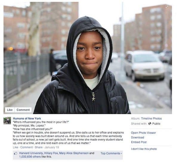 Update: Humans of New York Kickstarter Hits $1 Million After New Photo Goes Virtual