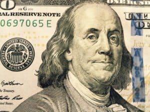 Ben Franklin Close Up 100 hundred money dollars