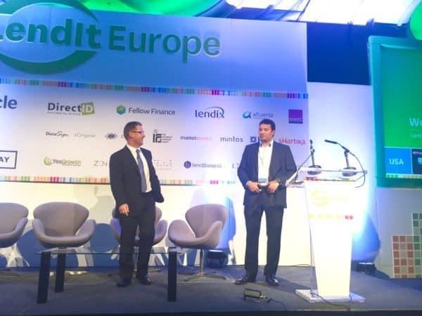 Samir Desai and Peter Renton at Lendit Europe 2015