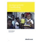 AlliedCrowds Declares In New Report: Developing Countries Raised $37.4 Using Crowdfunding in October 2015
