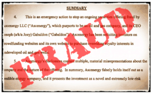 Ascenergy Fraud