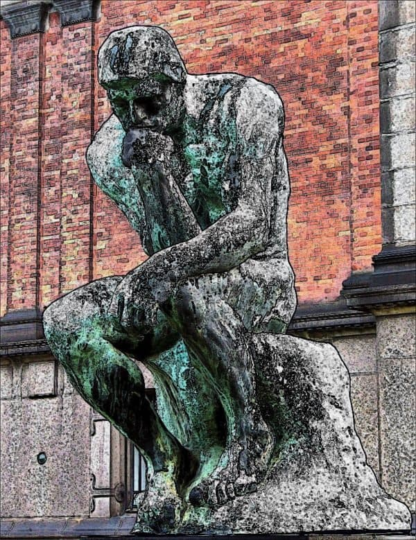 The Thinker Rodin Art