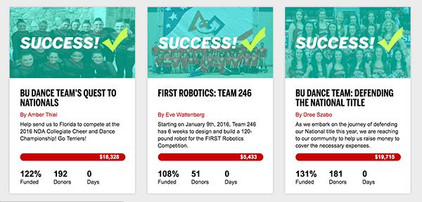 Brief: Boston University Launches Campus-Wide Crowdfunding Platform