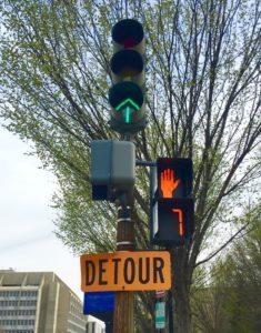 Confusion Stop Go Detour