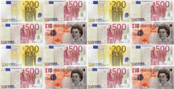 Money UK Europe Euros Pounds
