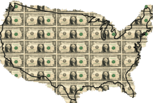 Dollars US Map