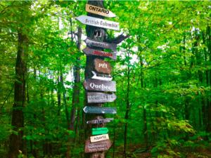Canada Sign Post Provinces Cottage Life