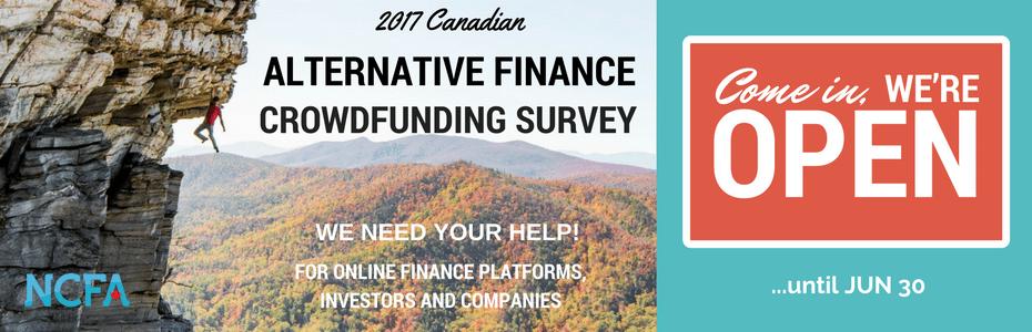 Ready & Waiting: NCFA Canada Opens 2017 Alternative Finance Industry Survey
