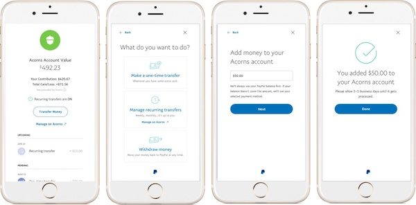 Users of Acorns May Now Use PayPal For Investment Accounts