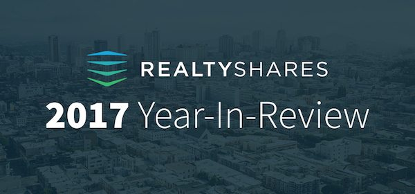RealtyShares Releases 2017 Year in Review (Infographic)