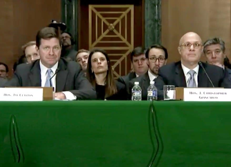 SEC Chair Jay Clayton & CFTC Chair J. Christopher Giancarlo to Testify Before Senate Committee On Appropriations Subcommittee on Budget Requests