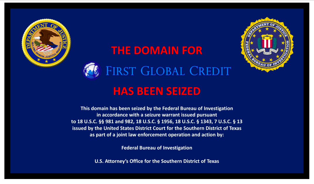 SEC and CFTC Charge Swiss-Based First Global Credit for Selling Unregistered Swaps for Bitcoins; Website Domain Seized by FBI